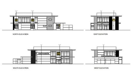 Proposed elevations for the new McDonalds Restaurant in Lowestoft. Picture: Mcdonald's Restaurants L