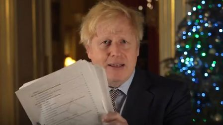 Boris Johnson with his Brexit deal