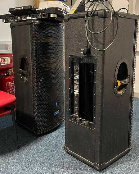 Police seized DJ equipment after the party on Blanche Lane, South Mimms.