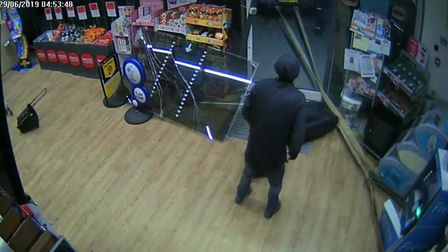 Hunting for items to steal inside the Kilkhampton Co-op