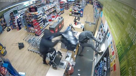 The gang steal what they can after breaking into the Co-op at Kilkhampton