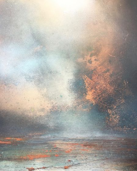 Julie Oldfield will be showing a range of her metal sheet and canvas paintings at a Pop Up exhibitio