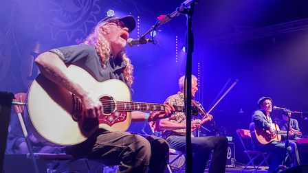 The Levellers perform an Acoustic set at Beautiful Days 2019. Ref shs 33 19TI 2019 7878. Picture: Te