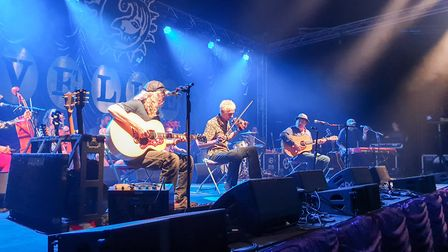 The Levellers perform an Acoustic set at Beautiful Days 2019. Ref shs 33 19TI 2019 7874. Picture: Te
