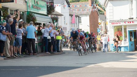 Tour of Britain passes through Ottery St Mary. Picture: Alex Walton