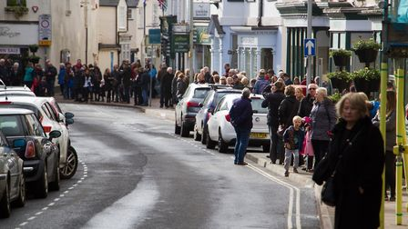 Sidmouth Remembrance day service. Ref shs 46 18TI 4633. Picture: Terry Ife