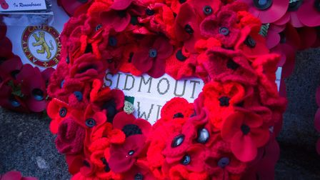 Sidmouth Remembrance day service. Ref shs 46 18TI 4761. Picture: Terry Ife