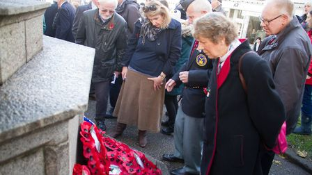Sidmouth Remembrance day service. Ref shs 46 18TI 4753. Picture: Terry Ife