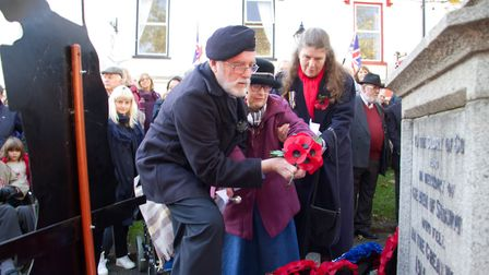 Sidmouth Remembrance day service. Ref shs 46 18TI 4744. Picture: Terry Ife