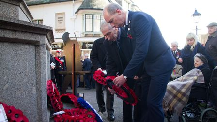 Sidmouth Remembrance day service. Ref shs 46 18TI 4740. Picture: Terry Ife