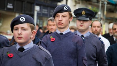 Sidmouth Remembrance day service. Ref shs 46 18TI 4670. Picture: Terry Ife