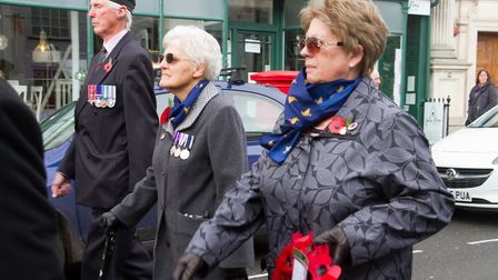 Sidmouth Remembrance day service. Ref shs 46 18TI 4653. Picture: Terry Ife