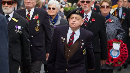 Sidmouth Remembrance day service. Ref shs 46 18TI 4651. Picture: Terry Ife
