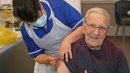 Resident of Lyncroft Care Home in Wisbech gets the Covid-19 vaccine