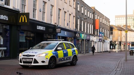 Police in Ipswich town centre Picture: SARAH LUCY BROWN