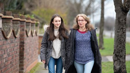Suzanna Kempton and her mum Nicky Clifton have been taking the walks together