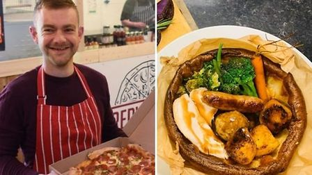 Sam Brown, owner of The Redwell Vault Pizzeria and Giant Yorkie Roast Co., is opening The Food Vault in Norwich - a new takeaway offering Yorkshire pudding wraps, pizzas and it will also have a Proudly Norfolk shop.