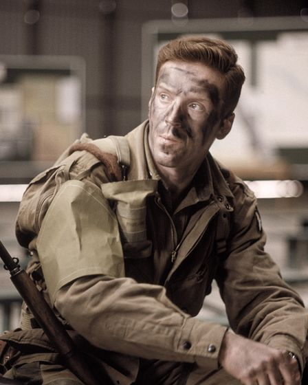 Damian Lewis as Richard D Winters in the first episode of miniseries Band of Brothers.