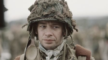 Dexter Fletcher as John W Martin in the opening episode of Band of Brothers.
