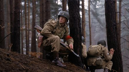A scene from the first episode of Band of Brothers.