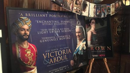 The film poster for Victoria & Abdul on display at Knebworth House where scenes of the movie were shot.