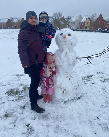 What better way to have family fun in lockdown than by building a snowman together?