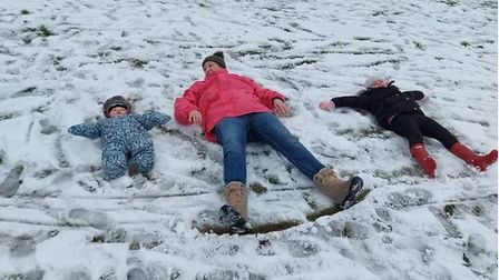 The snow was fun for all ages in Attleborough.