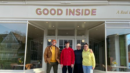 Staff outside the new Good Inside cafe at St Margaret's Green, Ipswich