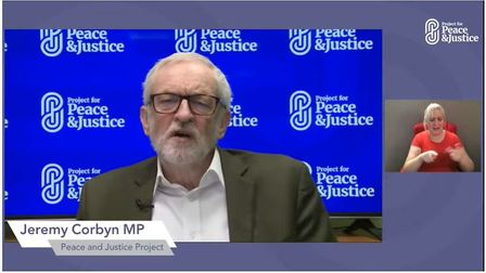 Jeremy Corbyn MP, launching the Project for Peace & Justice