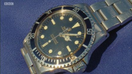 The Rolex Submariner watch which was shown on Antiques Roadshow.