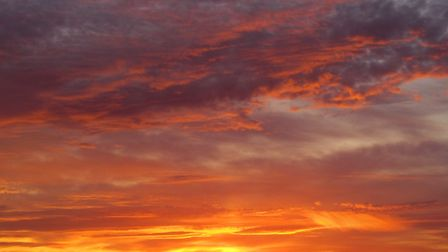 Charlotte Wright sent us this sunset image which she took in Great Paxton.
