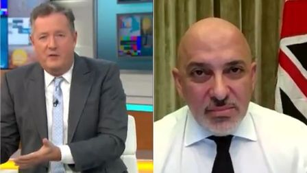 Nadhim Zahawi is challenged by Piers Morgan onGood Morning Britain