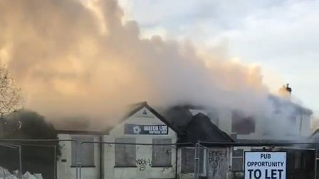 Smoke and flames as fire breaks out at The Griffin pub in Thorpe St Andrew