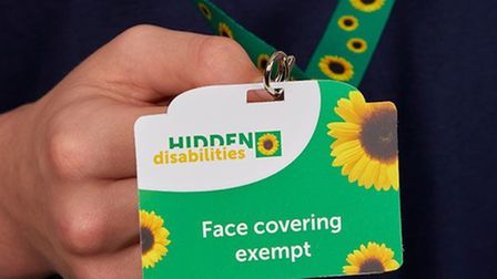 Face covering exempt lanyard