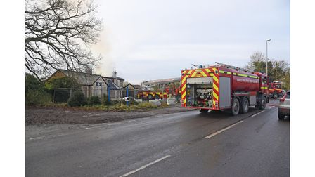 Norfolk Fire Service attending a fire at The Griffin Pub in Thorpe St Andrew. Picture: Danielle Bood