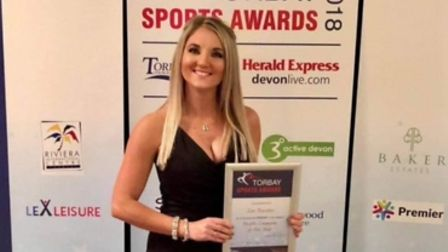 Zoe Bowden was a finalist at Torbay Sports Awards in 2018