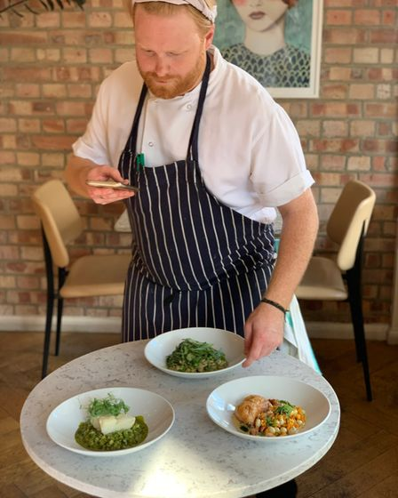 Head chef Dan Miller (pictured) and sous chefBeni Bischoff will prepare meals for NHS frontline workers