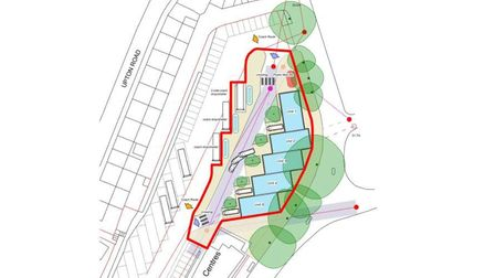 The site for planned industrial units at Torquay coach station