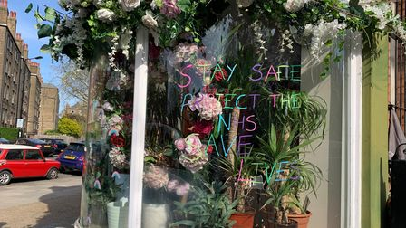 Avalon Flowers with a message to Maida Vale