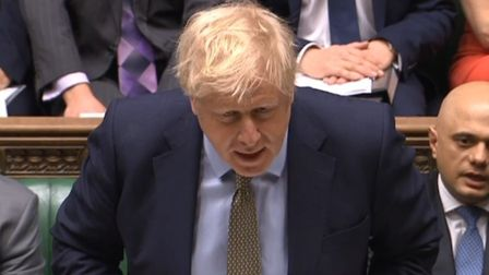 Boris Johnson appearing before prime minister's questions in the House of Commons (Pic: Parliament)