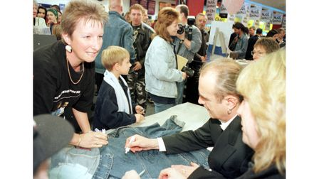Status Quo autograph signing at HMV in Ipswich in 1999