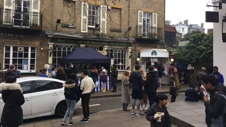 Rival creperies in Hampstead Village. Picture: Hampstead Village Voice
