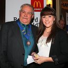 Amy Marren received the President's award from Peter Bruce at the Havering Sports Council Awards nig