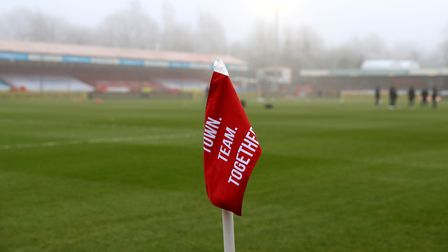 A general view of Broadfield Stadium, home of Crawley Town FC