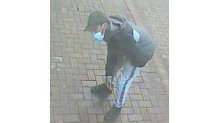 Police are looking to speak to this man in connection with the Ipswich distraction thefts