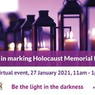 NHDC Holocaust Memorial Day event poster