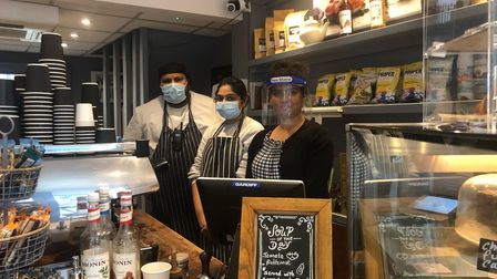 Rinku Sushanth and colleagues at New York Café in Hampstead.
