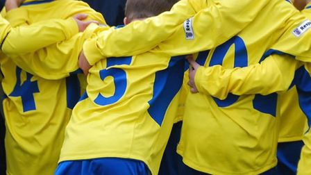 St Albans City Youth coach with kids