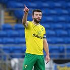 Grant Hanley of Norwich in action during the Sky Bet Championship match at the Cardiff City Stadium,
