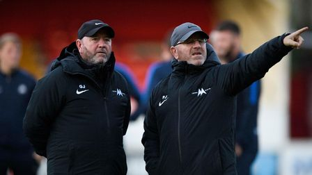 Gary Johnson, Manager of Torquay United and Peter Johnson, Head of First Team Recruitment at Torquay